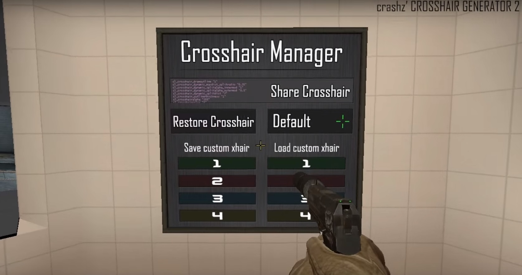 Crosshair manager
