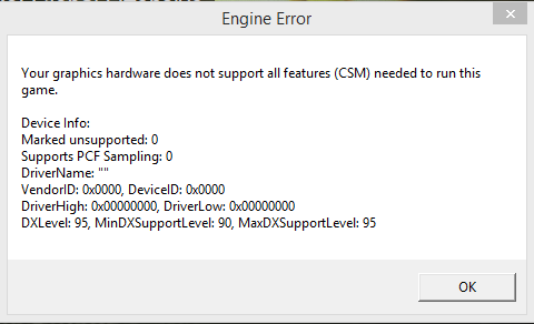 Your graphics hardware does not support all features CS: GO