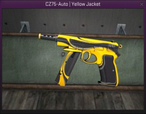 CZ75 auto yellow jacket